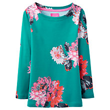 Buy Little Joule Girls' Harbour Floral T-Shirt, Green Online at johnlewis.com
