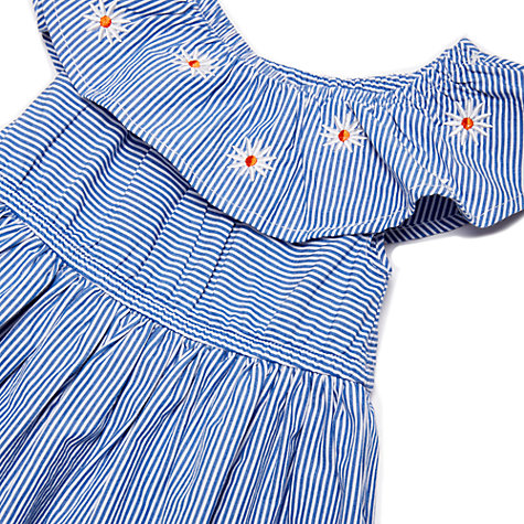 Buy Margherita kids Baby Candy Stripe Daisy Dress, Blue Online at johnlewis.com