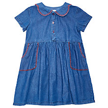 Buy Margherita Kids Girls' Chambray Dress, Blue Online at johnlewis.com