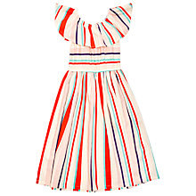 Buy Margherita Kids Girls' Yarn Dye Multi Stripe Dress, Multi Online at johnlewis.com
