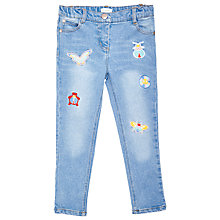 Buy Margherita Kids Girls' Bug Appliqué Skinny Denim Jeans, Blue Online at johnlewis.com