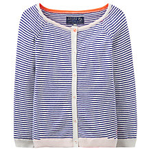 Buy Little Joule Girls' Cadence Striped Cardigan, Pool Blue Online at johnlewis.com