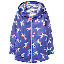 Buy Little Joule Girls' Raindance Floral Waterproof Rain Coat, Pool Blue/Multi Online at johnlewis.com
