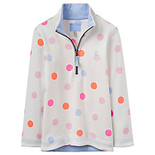 Buy Little Joule Girls' Fairdale Multi Spot Sweatshirt, Multi Online at johnlewis.com