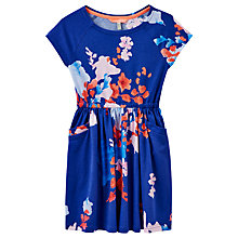 Buy Little Joule Girls' Jude Floral Dress, Blue Online at johnlewis.com