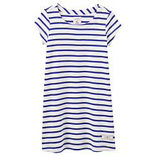Buy Little Joule Girls' Riviera Striped Jersey T-Shirt Dress, Blue/White Online at johnlewis.com