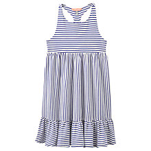 Buy Little Joule Girls' Striped Jersey Midi Dress, Blue/White Online at johnlewis.com