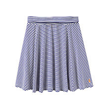 Buy Little Joule Girls' Lizzie Striped Jersey Skater Skirt, Blue/White Online at johnlewis.com