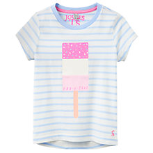 Buy Little Joule Girls' Pixie Ice Lolly T-Shirt, Blue/White Online at johnlewis.com