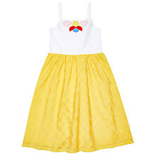 Buy Margherita Kids Girls' Butterfly Burnout Sundress, Yellow/White Online at johnlewis.com