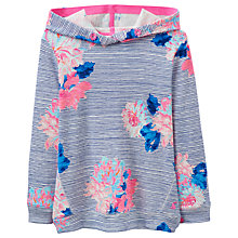 Buy Little Joule Girls' Marlston Floral Sweatshirt, Blue Online at johnlewis.com