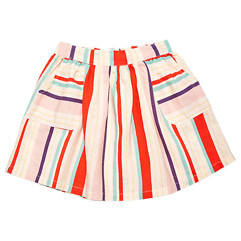 Buy Margherita Kids Baby Multi Colour Stripe Skirt, Multi Online at johnlewis.com