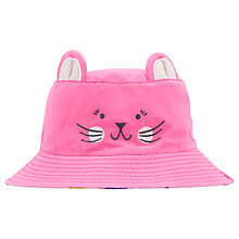 Buy Little Joule Children's Hattie Mouse Face Hat, Pink Online at johnlewis.com