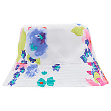 Buy Little Joule Children's Sunseeker Floral Reversible Sun Hat, White/Multi Online at johnlewis.com