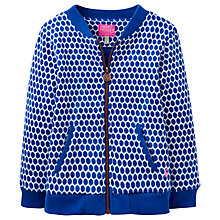 Buy Little Joule Girls' Geometric Bomber Jacket, Blue Pool Online at johnlewis.com