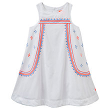 Buy Little Joule Girls' Bunty Embroidered Dress, White/Multi Online at johnlewis.com