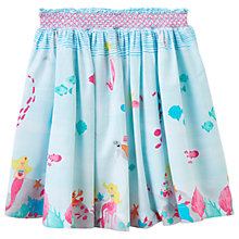 Buy Little Joule Girls' Myla Under The Sea Skirt, Blue Online at johnlewis.com