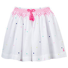 Buy Little Joule Girls' Myla Multi Spot Skirt, White Online at johnlewis.com