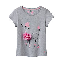 Buy Little Joule Girls' Maggie 3D Poodle T-Shirt, Grey Online at johnlewis.com