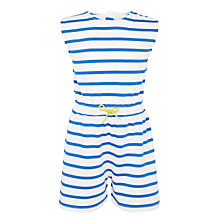 Buy John Lewis Girls' Stripe Jersey Playsuit, Cobalt Online at johnlewis.com