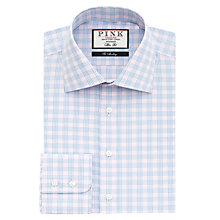 Buy Thomas Pink Bateson Check XL Sleeve Slim Fit Shirt, Pale Blue/Pink Online at johnlewis.com