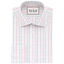 Buy Thomas Pink Wilson Check Classic Fit XL Sleeve Shirt, Pink/White Online at johnlewis.com