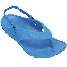 Buy Crocs Children's Hilo Heel Strap Flip Flops Online at johnlewis.com