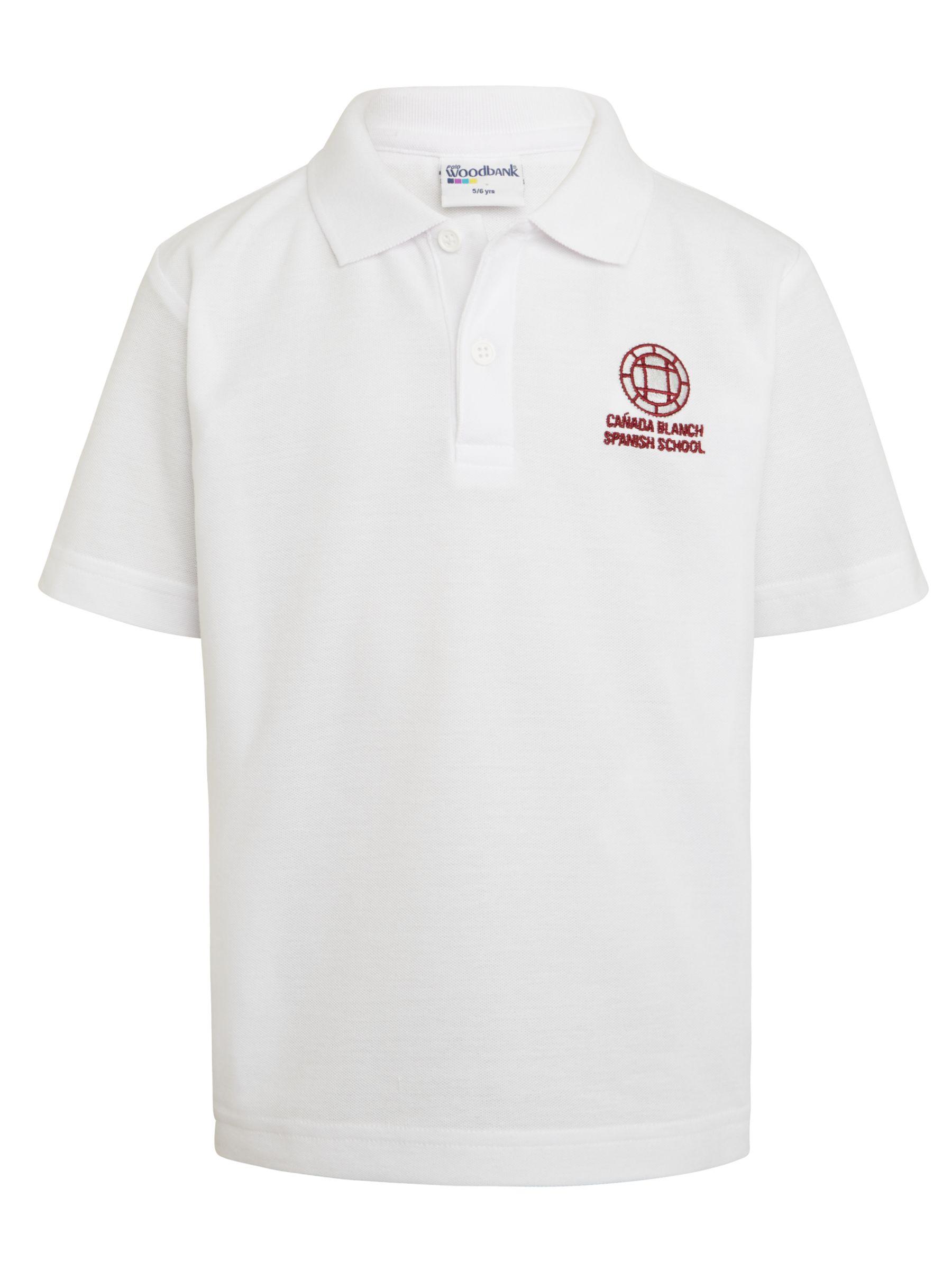Unbranded Instituto Español Vicente Cañada Blanch School Polo Shirt, White