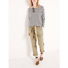 Buy AND/OR Cut About Stripe Jumper, Silver/Charcoal Online at johnlewis.com