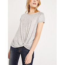Buy AND/OR Knot Hem Linen Top, Grey Online at johnlewis.com