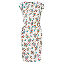 Buy Collection WEEKEND by John Lewis Dotty Summer Floral Dress, White/Multi Online at johnlewis.com