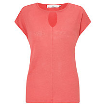 Buy John Lewis Linen Keyhole Neck Top Online at johnlewis.com