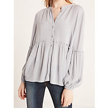Buy AND/OR Frill Hem Shirt, Pale Grey Online at johnlewis.com