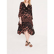 Buy AND/OR Rosie Print Dress, Black/Red Online at johnlewis.com