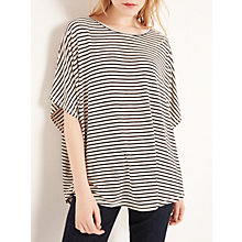 Buy AND/OR Stripe Cape Top, Cream/Black Online at johnlewis.com