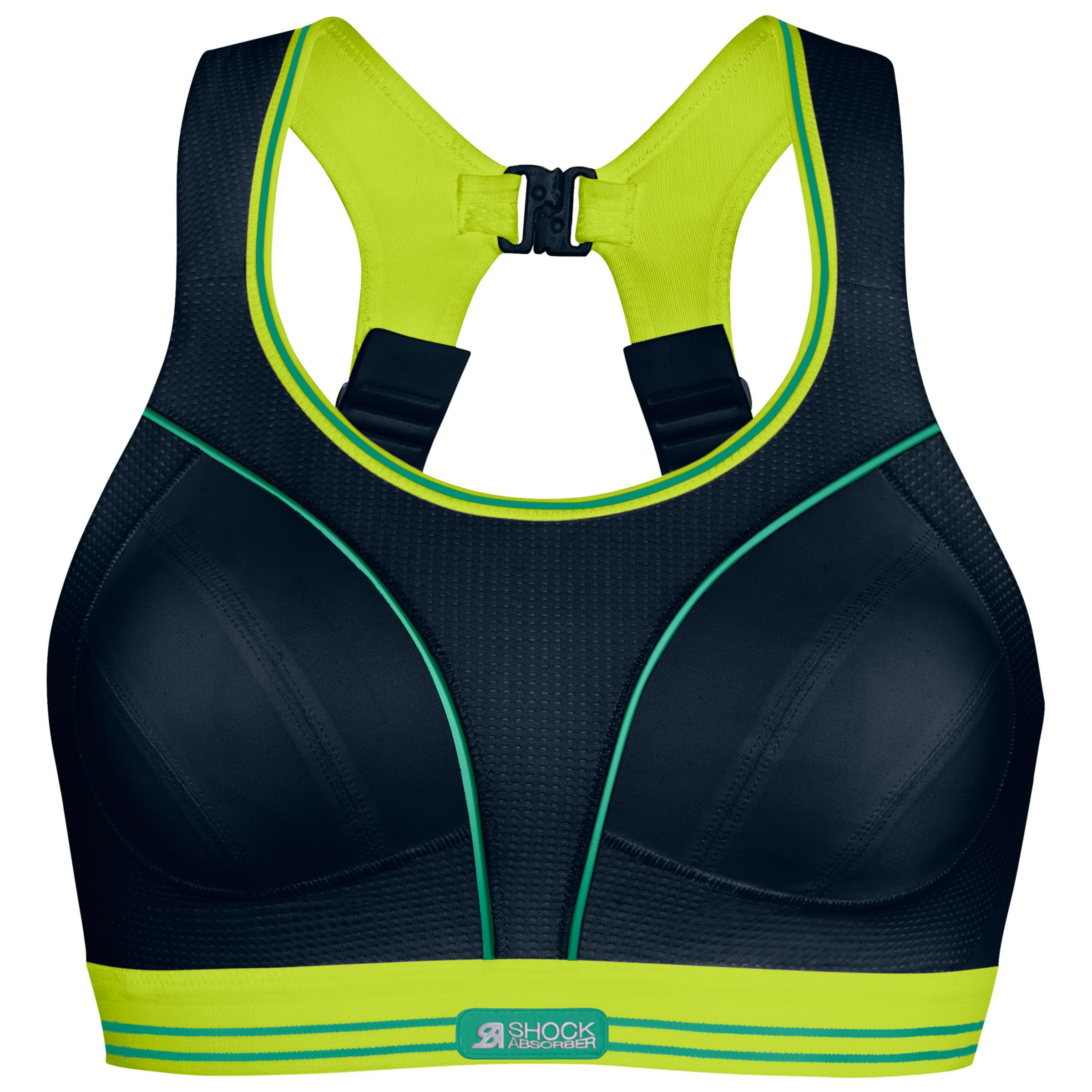 Shock Absorber Shock Absorber Ultimate Run Non-Wired Sports Bra, Black/Lime