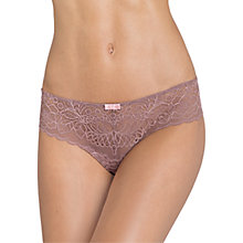 Buy Triumph Spotlight Amourette Lace Thong, Brown Light Combination Online at johnlewis.com