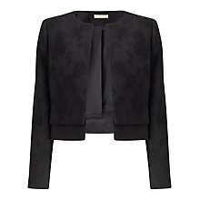 Buy Jacques Vert Petite Textured Jacket, Black Online at johnlewis.com