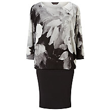 Buy Phase Eight Becca Abstract Batwing Dress, Dark Charcoal Marl Online at johnlewis.com