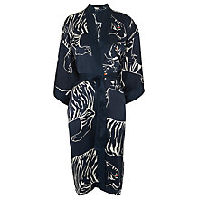 Buy Whistles Tiger Print Silk Kimono, Blue/Multi Online at johnlewis.com