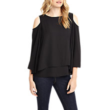 Buy Phase Eight Dania Cold Shoulder Blouse, Black Online at johnlewis.com