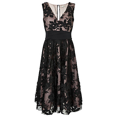 Jacques Vert Applique Prom Dress, Multi/Black
