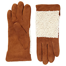 Buy Jigsaw Georgia Sheepskin Gloves, Natural Online at johnlewis.com