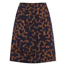 Buy Warehouse Camo Animal Jacquard Skirt, Navy Online at johnlewis.com