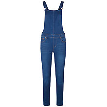 Buy Donna Ida for Jaeger Lola Denim Dungarees, Bright Blue Online at johnlewis.com