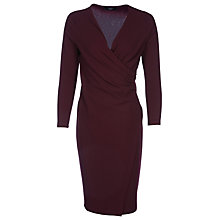 Buy Yanny London Jersey Wrap Dress, Burgundy Online at johnlewis.com