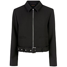 Buy Jaeger Buckle Belt Detail Jacket, Black Online at johnlewis.com
