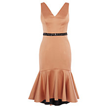 Buy Coast Ryanna Peplum Hem Dress, Caramel Online at johnlewis.com
