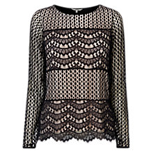 Buy Coast Anaya Lace Top, Mono Online at johnlewis.com