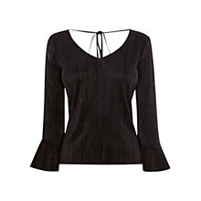 Buy Coast Kiah Pleated Top, Black Online at johnlewis.com